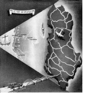 Fig. 3 Le vie di Roma