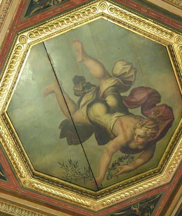 Fig. 10. Giorgio Vasari and assistance, Peace, 1555-57 Ceiling, Sala degli Elementi, Palazzo Vecchio, Florence Photo credit: author