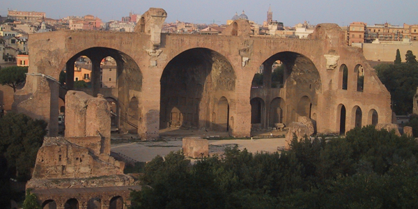 Fig. 17. Basilica of Maxentius-Constantine, 306-12 Velian Hill, Roman Fori, Rome Photo credit: author
