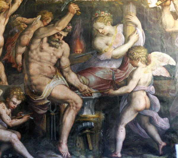 Fig. 18. Giorgio Vasari, Venus, det., 1555-57 Vulcan's Forge, Sala degli Elementi, Palazzo Vecchio, Florence Photo credit: author
