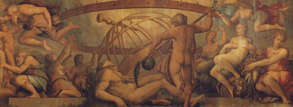 Fig 4. Giorgio Vasari, Saturn Mutilating Heaven (Element of Air), 1555-57   Ceiling, Sala degli Elementi, Palazzo Vecchio, Florence Photo credit: author