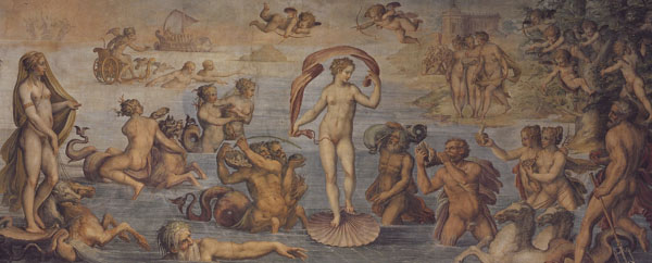 Fig. 6. Giorgio Vasari, The Birth of Venus (Element of Water), 1555-57 South Wall, Sala degli Elementi, Palazzo Vecchio Photo credit: author