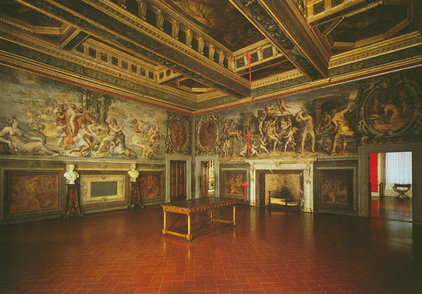 Fig. 9. Cheney's levels of the history painting  in  the Sala degli Elementi, Palazzo Vecchio, Florence Photo credit: author