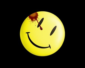 Smiley di Watchmen, 1986, USA.