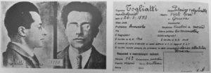 Fig. 7 Scheda della polizia fascista riguardante Palmiro Togliatti