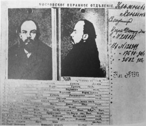 Fig. 3- Scheda segnaletica della polizia zarista riguardante Vladimir Il'ič Ul'janov (Lenin)