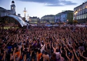 Fig. 2 - Manifestazione del Movimiento 15-M a Madrid