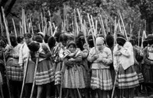 Fig. 2 - Militanti dell'EZLN in Chapas