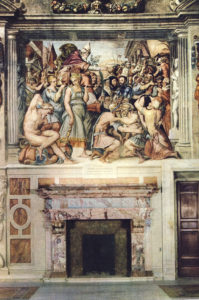 Fig. 11. Giorgio Vasari, Peace Between Charles V and Francis I, det., 1546, fresco. Palazzo della Cancelleria, Rome