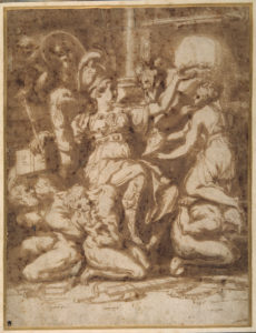 Fig. 2. Giorgio Vasari, Farnese Justice, 1543, drawing, Inv. 0177. Devonshire Collection, Chatsworth, UK.