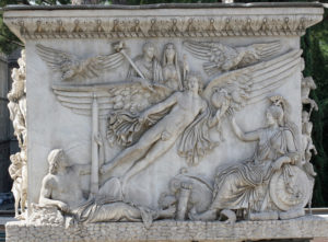 Fig. 6. Apotheosis of Antoninus Pius and Faustina at the base of the column of Antoninus Pius, 161, marble. Rome