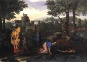 Fig.1 WA1950.169 Nicolas Poussin, The Exposition of Moses, 1654, oil on canvas © Ashmolean Museum, University of Oxford.