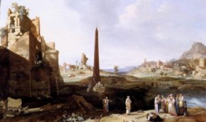 Fig. 4. Bartholomeus Breenbergh, The Finding of Moses 1639, oil on panel, 48 x 81 cm. Private collection. Source: http://www.wga.hu/frames-e.html?/html/b/breenber/findingm.html