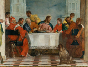 Fig. 4. Paolo Veronese, Feast in the House of Levi, Det., Center, [Venice], 1573