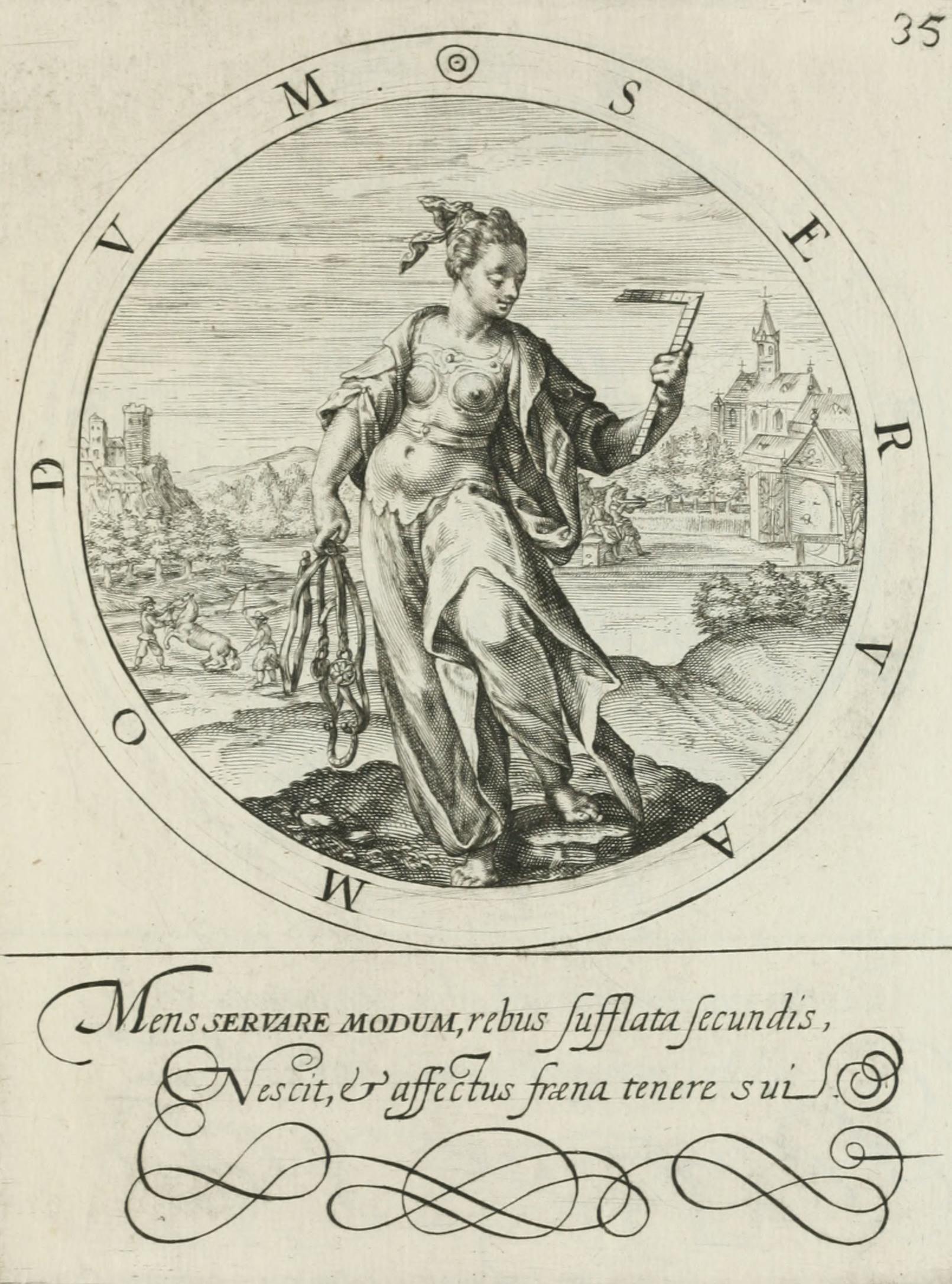 Gabriel Rollenhagen, Nucleus emblematum selectissimorum. Centuria secunda, Crispin de Passe, Utrecht 1613, pl. 35