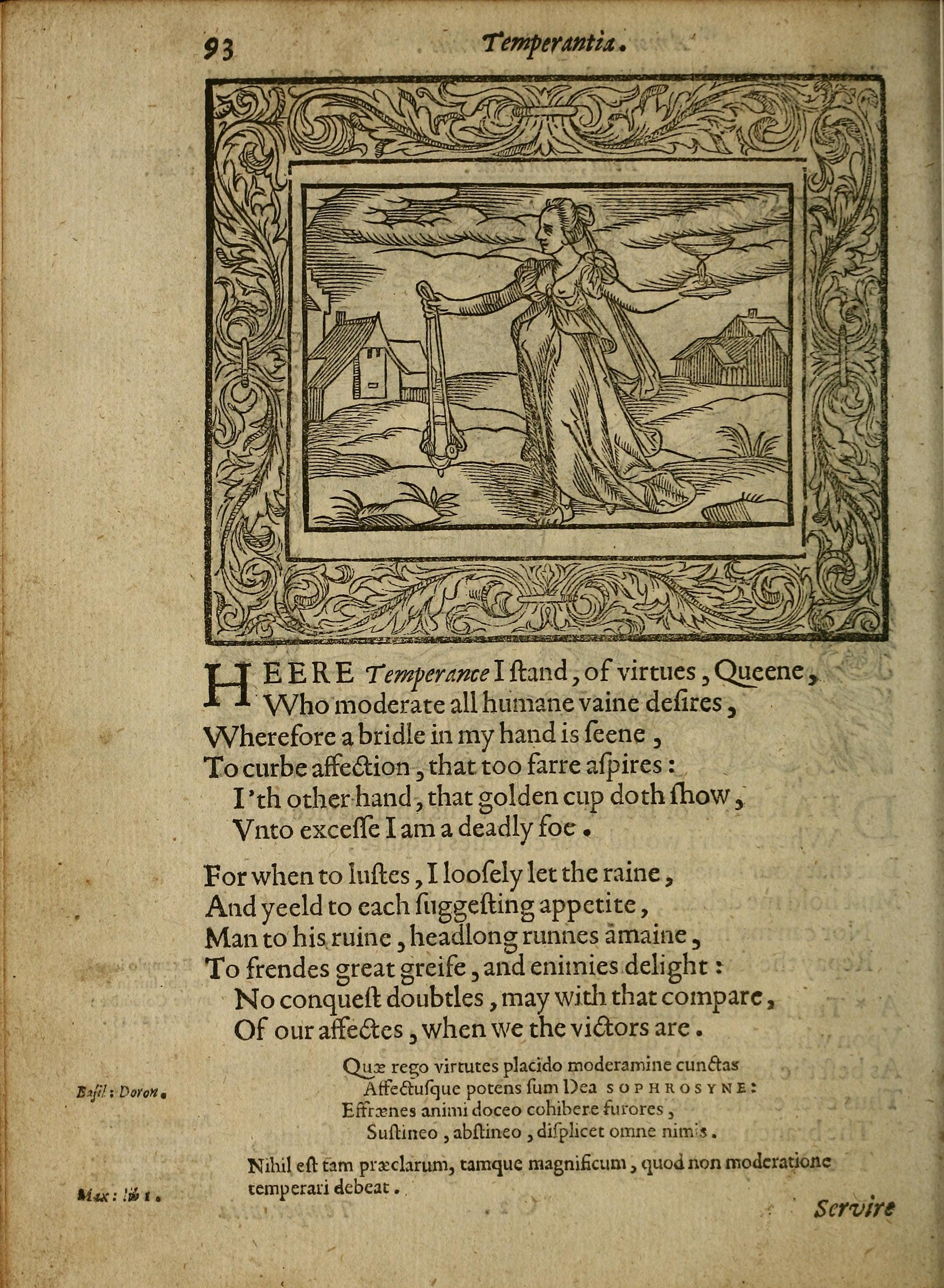 H. Peacham, Minerva Britanna (1612), emblem 93