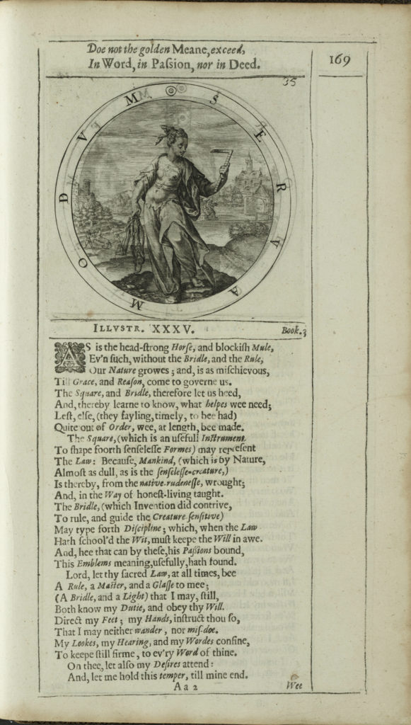 Fig. 18. George Wither, A Collection of Emblemes (A. M. – R. Allot, London 1635), book III, ill. XXXV, p. 169